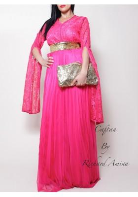 Robe d'un soir rose fushia