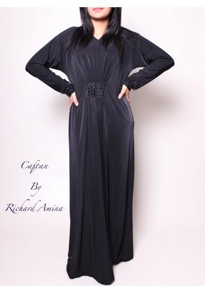 habaya noire simple