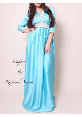 Caftan Badiha bleu