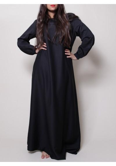 habaya noire pour soirée