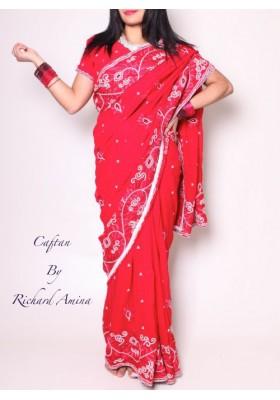 sari glamour d'occasion 34 au 38